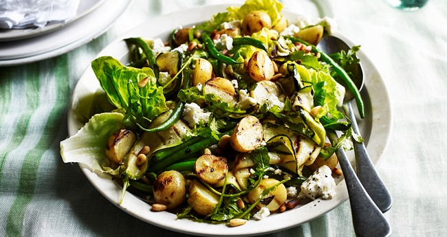 Funky potato and courgette salad recipe