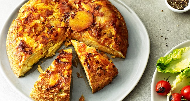Spanish tortilla with paprika and parsley recipe