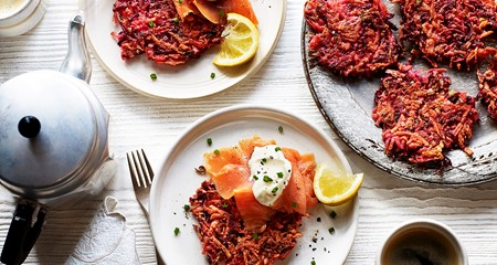 Potato and beetroot latke recipe