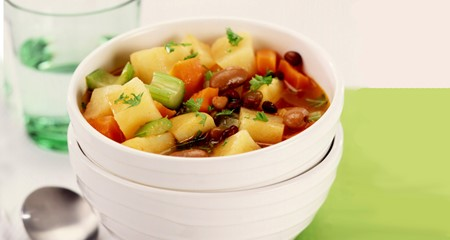 Chunky potato and bean soup recipe
