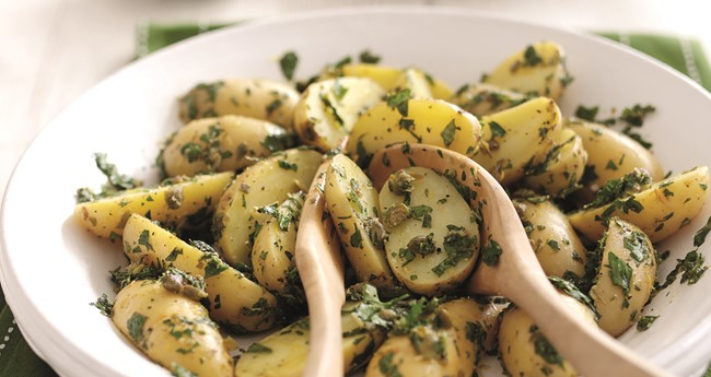Potato Salad with Homemade Salsa Verde Recipe