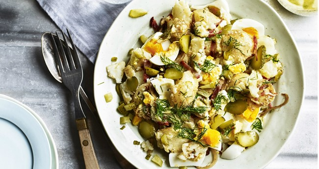 Bacon & Egg Potato Salad with Dijon Mustard Recipe