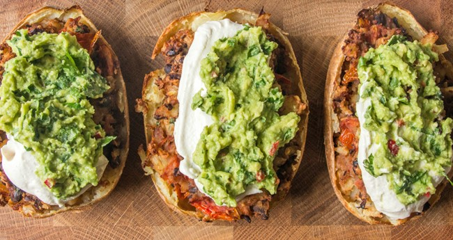 Loaded Mexican-Style Potato Skins