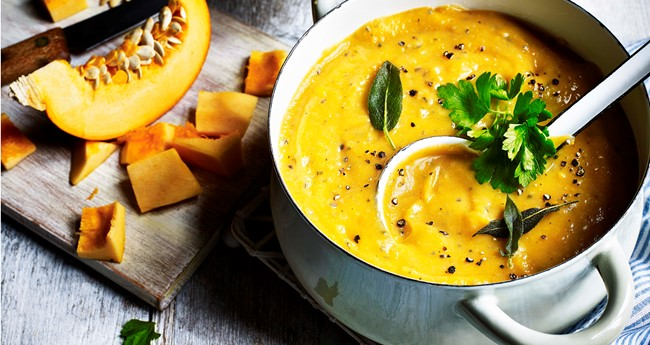 Autumnal Potato and Pumpkin Soup